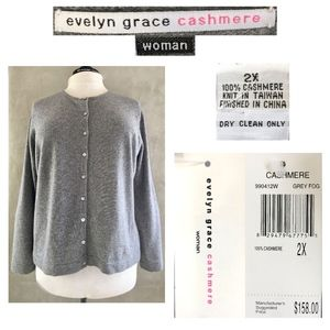 EVELYN GRACE WOMAN 100% Cashmere Cardigan Sweater